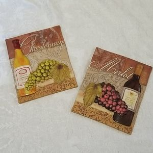 Ceramic Tile Wine Wall Plaques